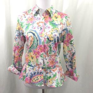 NWT Lauren Ralph Lauren Patel Floral Blouse 14